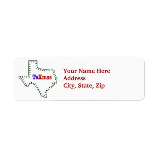 TeXmas Texas Xmas holiday label