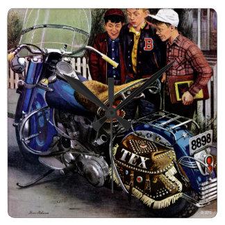 Tex's Motorcycle Wall Clocks