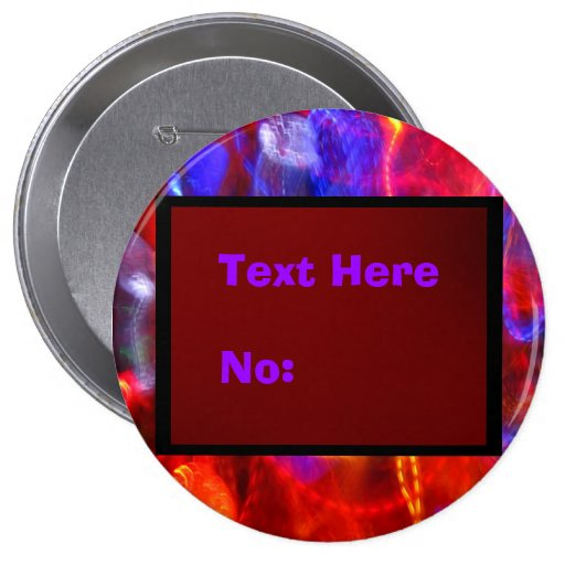 Text And Number Here Pinback Buttons