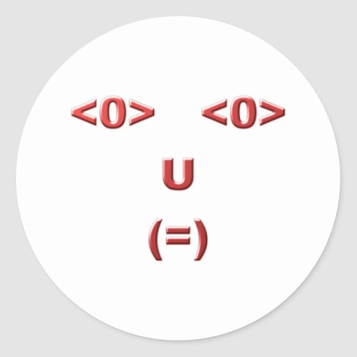 Text ASCII face face Sticker