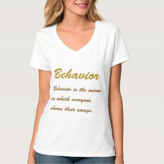 Text BEHAVIOUR:  Conduct, Social, Etiquette, Idol, Tee Shirts