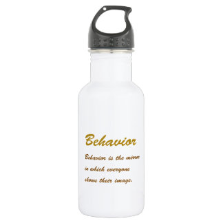 Text BEHAVIOUR: Etiquette Social Sports School MAN 532 Ml Water Bottle