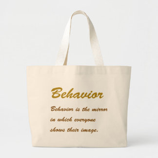 Text BEHAVIOUR: Etiquette Social Sports School MAN Bags