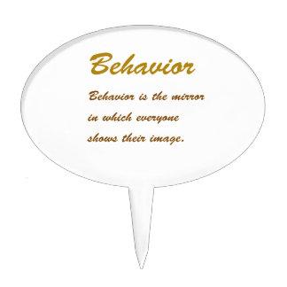 Text BEHAVIOUR: Etiquette Social Sports School MAN Cake Toppers