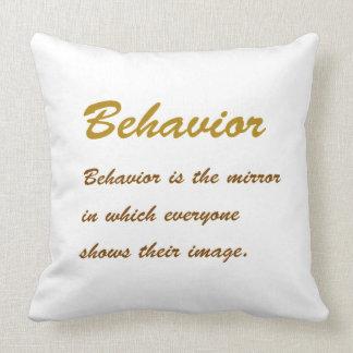 Text BEHAVIOUR: Etiquette Social Sports School MAN Throw Pillow