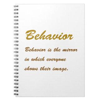 Text BEHAVIOUR: Etiquette Social Sports School MAN Spiral Note Book