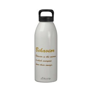 Text BEHAVIOUR: Etiquette Social Sports School MAN Drinking Bottles