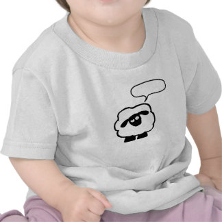 Text Bubble Sheep Baby Shrit T-shirts