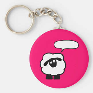 Text Bubble Sheep Keychain