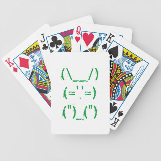 Text bunny playing cards