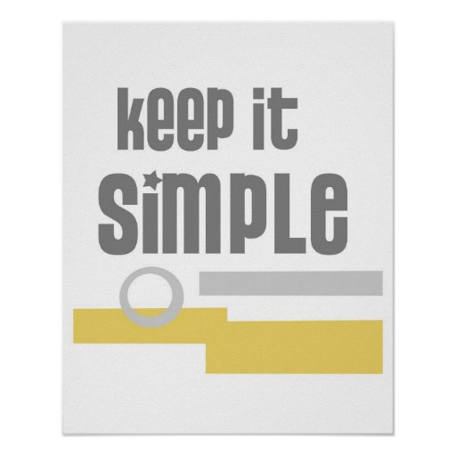 text design poster Keep It Simple grey and yellow