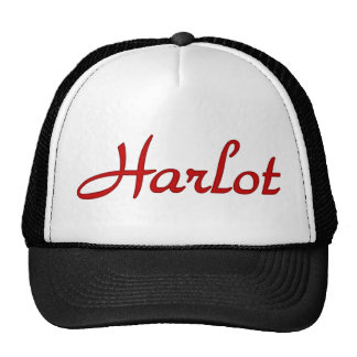 Text Harlot Trucker Hat