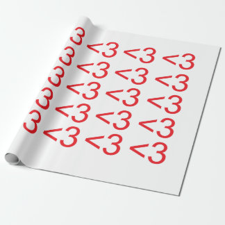 Text Heart Wrapping Paper
