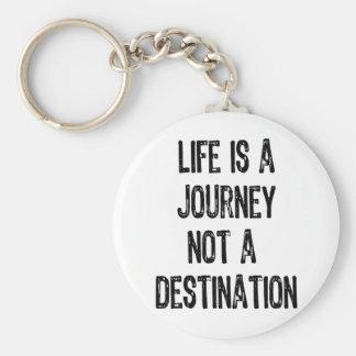 Text- Life Is A Journey Not A Destination-Black Key Chains