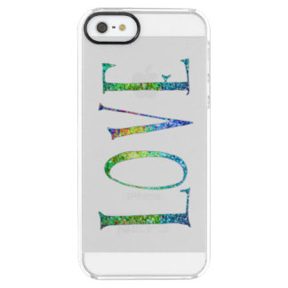 Text-LOVE Colorful Glitter Text Design iPhone 6 Plus Case