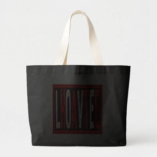 Text- Love Is Hate Red/Black/White Bag