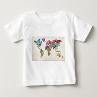 Text Map of the World Baby T-Shirt