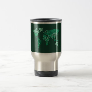 Text Map of the World Map Mug