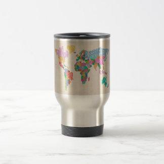 Text Map of the World Map Coffee Mug