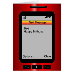 Cell phone birthday cards invitations zazzle text message happy birthday card bookmarktalkfo Image collections