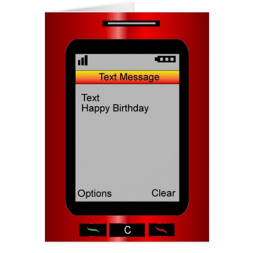 Text Message Happy Birthday Greeting Card