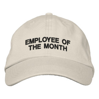 Text only business promotional marketing employee embroidered hat