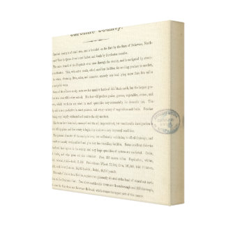 Text Page Caroline County Canvas Print