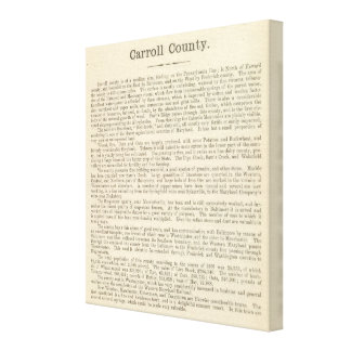 Text Page Carroll County Canvas Print