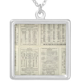 Text Page Chicago Milwaukee and St Paul Railway Silver Plated Necklace
