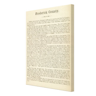 Text Page Frederick County Canvas Print