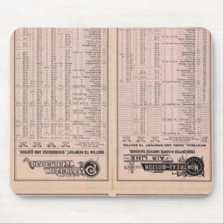 Text Page Montreal and Boston Air Line Mouse Mat