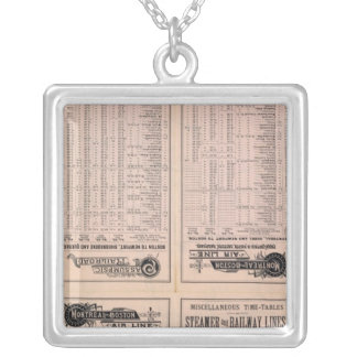 Text Page Montreal and Boston Air Line Silver Plated Necklace