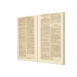 Text Page New World Atlas 2 Canvas Print