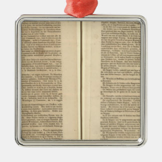 Text Page New World Atlas 2 Christmas Ornament