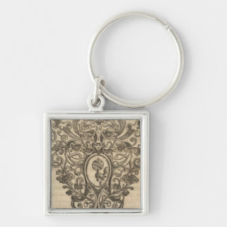 Text Page New World Atlas 3 Silver-Colored Square Key Ring