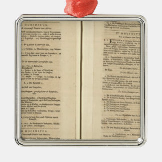 Text Page New World Atlas Christmas Ornament
