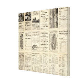 Text Page of Boston and Maine Railroad Canvas Print
