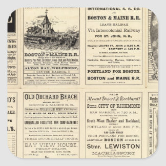 Text Page of Boston and Maine Railroad Square Sticker