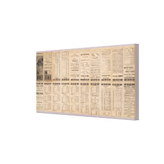Text Page of Erie Railway Canvas Print