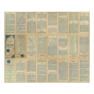 Text Page of Geographical Climatic Map California Poster