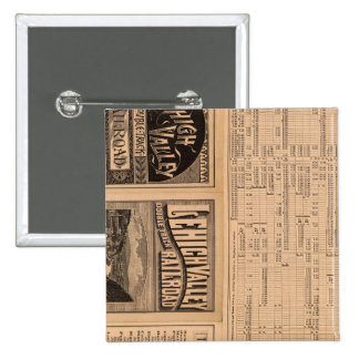 Text Page of Lehigh Valley Railroad 15 Cm Square Badge