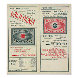 Text Page of Phillips Tourist Excursions Poster