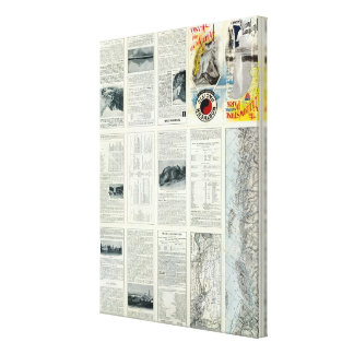Text Page of Yellowstone National Park 2 Canvas Print