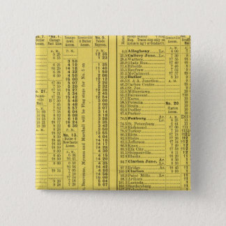 Text Page Pittsburgh and Western Railway Company 15 Cm Square Badge