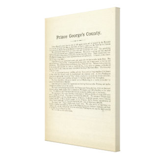 Text Page Prince George's County Canvas Print