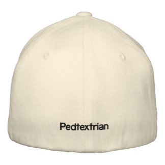 """Text Patrol EB. caps.by C.Ulysse """"Pedtextrians"""" Embroidered Cap"""