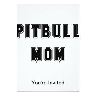 Text Pitbull Mom 13 Cm X 18 Cm Invitation Card