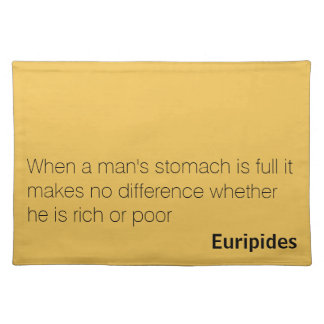 Text placemat with Euripides quote