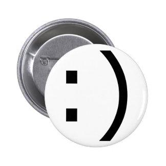 Text Smile (common) 6 Cm Round Badge