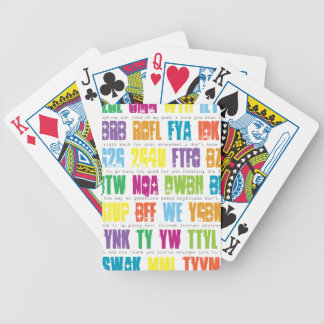 Text Speak Playing Cards